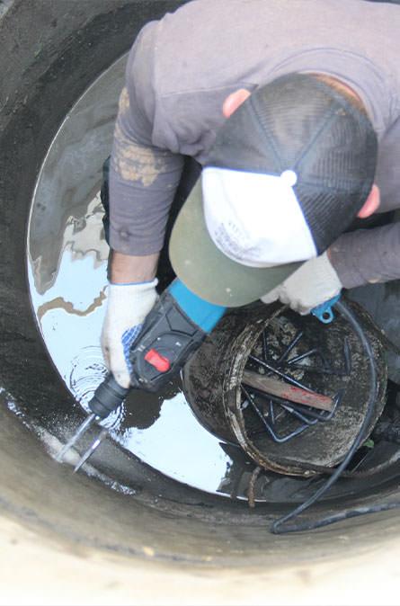 Как мы выполняем ремонт колодцев в Калининце